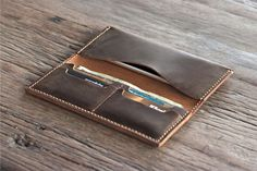 Leather iPhone 6 PLUS Wallet Clutch Case Rustic by JooJoobs