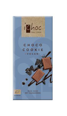 Choco Cookie - vegan organic chocolate with #oreo like cocoa cookies. #veganchocolate #ichoc