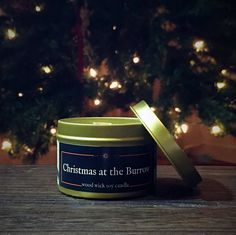 CHRISTMAS at the BURROW Candle Soy Candles, Scented Candles, Candle Jars, Wizard School, The Burrow, Table For Small Space, Gifts For Bookworms, Container Size, Geek Gifts