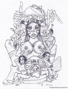 Stripper Paradise Print 13 x 19 by Artist - Signed #Surrealism