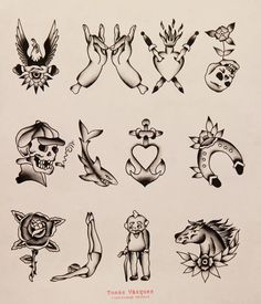 Tomas Vasquez Tattoo Flash | KYSA #ink #design #tattoo