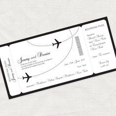 come fly with me boarding pass wedding invitation by idoityourself, $17.00