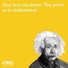 """""""Any fool can know. The point is to understand."""" -Albert Einstein #AlbertEinstein"""