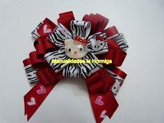 Tutorial flores y moños en cinta para el cabello. No. 364 hair bows tutorial - YouTube