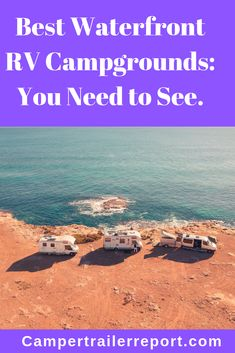 12 Best Waterfront RV Campgrounds: You Need to See. - 12 Best Waterfront RV Campgrounds: You Need to See. Beach Camping Tips, Camping Spots, Camping Life, Camping Hacks, Outdoor Camping, Camping Outdoors, Camping Ideas, Camping Essentials, Rv Life