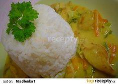 Kuřecí na kari se zeleninou Baked Potato, Chicken Recipes, Grains, Rice, Potatoes, Baking, Ethnic Recipes, Food, Potato