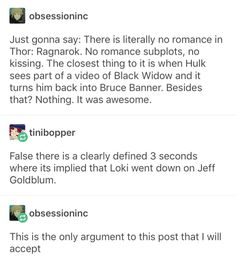 and that is why thor ragnarok is undeniably one of the Best marvel movies , Marvel Funny, Marvel Memes, Marvel Dc Comics, Marvel Avengers, Best Marvel Movies, Superwholock, Marvel Universe, Obsessed Girlfriend, Fandoms
