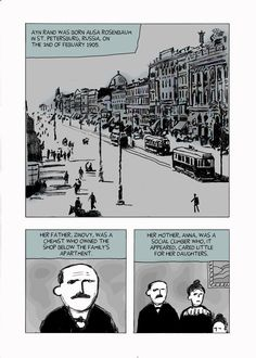 Ayn Rand by Darryl Cunningham.  A graphic novel about Ayn Rand.