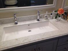 Wymara Trough Sink By Mti, Installed As Undermount. Moen U0027Wynfordu0027 Faucets  In Chrome.