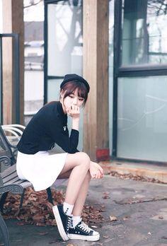 38 Ideas For Fashion Korean Kpop Ulzzang Heart Ulzzang Fashion, Kpop Fashion, Cute Fashion, Trendy Fashion, Girl Fashion, Fashion Looks, Fashion Outfits, Womens Fashion, Style Fashion