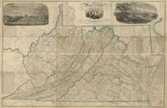 """Relief shown by hachures. Depths shown by soundings. """"Entered according to Act of Congress, the 14th day of April 1826, by John Tyler, Governor of the State of Virginia."""" Prime meridian: Washington. Originally printed on 9 sheets. Includes geological remarks, memoranda, tables of population, altitudes, and steam boat routes, ill., and views of Richmond and the University of Virginia. Available also through the Library of Congress Web site as a raster image. Annotated in colored cray..."""