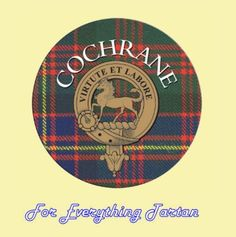 For Everything Genealogy - Clan Cochrane Clan Crest Tartan Cork Round Coasters Set of 2, $12.00 (http://foreverythinggenealogy.mybigcommerce.com/clan-cochrane-clan-crest-tartan-cork-round-coasters-set-of-2/)