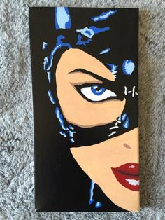 Michelle Pfeiffer Catwoman - Hand Painted Pop Art Canvas by PopEmporium on Etsy