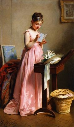 Woman in Pink, 1884