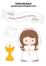 Passatempo da Ana: Topo de Bolo: Primeira Eucaristia (Menina)
