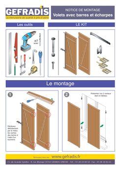 page 3 cette notice vous explique comment poser votre volet battant barres et charpes vous. Black Bedroom Furniture Sets. Home Design Ideas