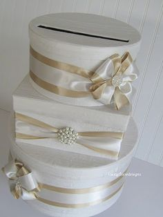 Wedding Card Box Custom Card Box Money Card by LaceyClaireDesigns, $119.00