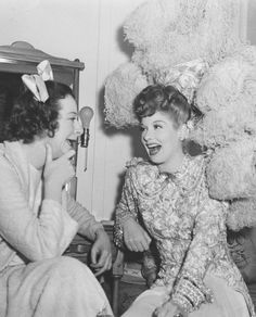 Lucille Ball and Fanny Brice, 1946