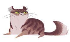 Daily Cat Drawings — 337: American Curl