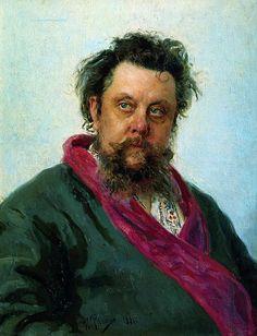 Ilya Repin (Илья́ Ефи́мович Ре́пин, 1844-1930)  Portrait of Modest Musorgskii  1881