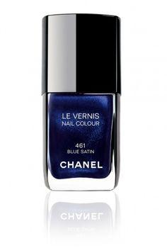 Chanel Blue Satin Nail Polish