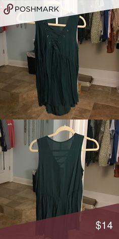 lace up shirt never worn Xhilaration Tops Tees - Short Sleeve