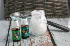 Homemade Vicks Rub with Essential Oils using only 3 Ingredients. All natural, chemical free, and works amazingly well.  Ease your child's congestion with this homemade vapor rub.