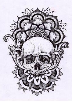 Mandala tattoo design, skull hand tattoo, skull tattoos, wolf tattoos, new Hand Tattoos, Simbolos Tattoo, Body Art Tattoos, Sleeve Tattoos, Wolf Tattoos, Stomach Tattoos, Flower Tattoos, Paisley Tattoos, Tatoos