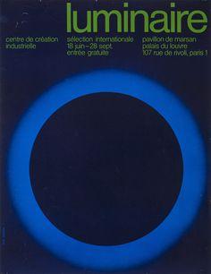 Jean Widmer, Luminaire. 18 juin au 28 septembre, Centre de création industrielle, 1971