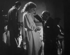 "Max Ophuls directing Joan Fontaine on the set of ""Letter from an unknown woman"""