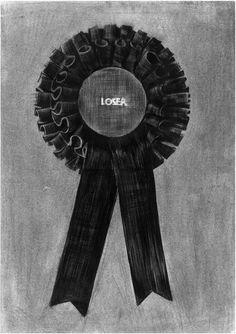 """Saatchi Online Artist: Mehmet Dere; Charcoal, 2011, Drawing """"LOSER"""""""