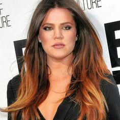 Ombre hair brunette and brunette copper gold
