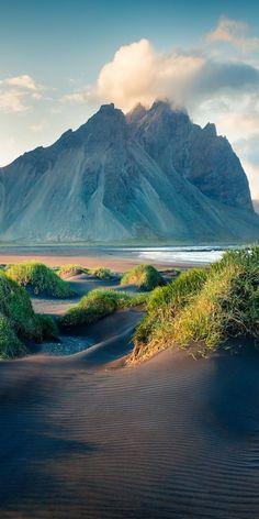 Black sand dunes, Stokksnes, Iceland