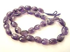 Amethyst Smooth Oval Quality C / 7.5x12 to by beadsofgemstone