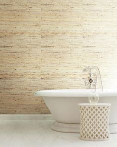 Shop Cream Grasscloth Wallpaper Sample from York Wallcoverings at Horchow, where you'll find new lower shipping on hundreds of home furnishings and gifts. Glam Wallpaper, Wallpaper Samples, Brick And Mortar, Rug Sale, Southern Comfort, Natural Materials, Home Furnishings, House, York