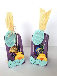 Cute mini basket made with stampin up dsp eggstra spectacular egg throne with the scallop tag topper link to video tutorial in the post easter gifthappy negle Choice Image