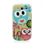 Cute Owl Pattern Samsung S3 Plastic Back Case for Samsung GALAXY S III i9300