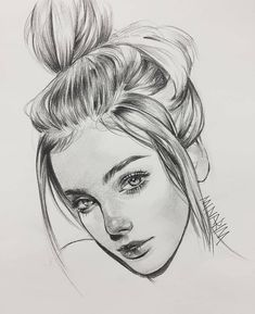 Excellent Drawing Faces With Graphite Pencils Ideas. Enchanting Drawing Faces with Graphite Pencils Ideas. Girl Drawing Sketches, Face Sketch, Portrait Sketches, Pencil Art Drawings, Cool Art Drawings, Realistic Drawings, Drawing Faces, Portrait Art, Portraits