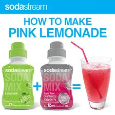 How to Make Pink Lemonade with SodaStream...
