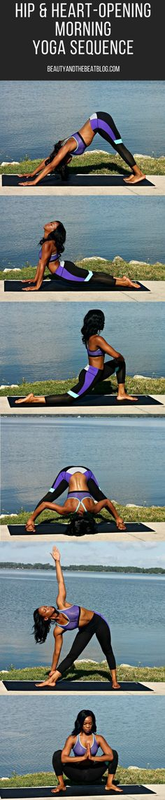 Yoga Fitness Flat Belly - Slay your day with this hip and heart-opening morning yoga sequence! - There are many alternatives to get a flat stomach and among them are various yoga poses. Yoga Bewegungen, Yoga Moves, Yoga Exercises, Yoga Flow, Yoga Meditation, Yoga Workouts, Workout Tips, Yoga Mantras, Yoga Fitness