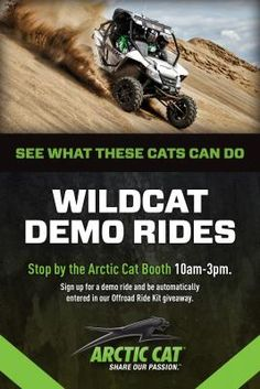 Arctic Cat Factory Display and Demo Rides at DuneFest July 29-August 2