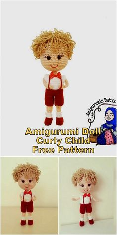 In this article I will share a wonderful amigurumi doll pattern again. You can enjoy this beautiful amigurumi doll with curly child free english pattern. Animal Knitting Patterns, Crochet Dolls Free Patterns, Crochet Doll Pattern, Amigurumi Patterns, Amigurumi Doll, Crochet Gratis, Crochet Toys, Free Crochet, Cute Sheep