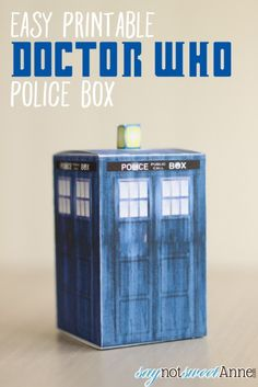 Easy DIY Doctor Who