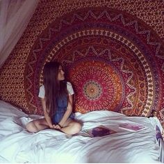 hippie mandala tapestry bohemian wall hanging queen bedcover beach blanket decorative curtain