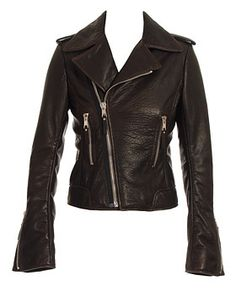 b9d809dc107 This is the Black Leather Biker Jacket by Balenciaga which Linda (Jennifer  Aniston) wears