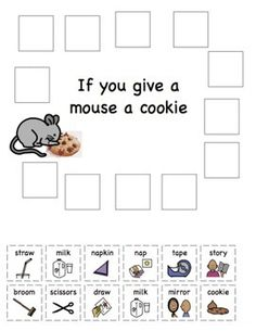 If you give a Mouse a Cookie Sequencing