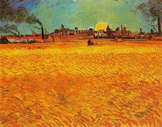Van Gogh. Trigal a la puesta de sol.1888
