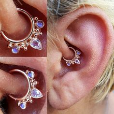 This persons ear is icky. But the jewelry is nice