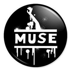 "Muse logo #artwork 25mm 1"" pin #badge button #alternative rock band bellamy…"