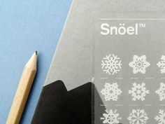 Letraset (transfer paper) snowflakes!!!
